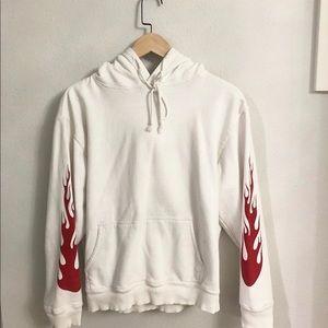 White brandy flames hoodie !